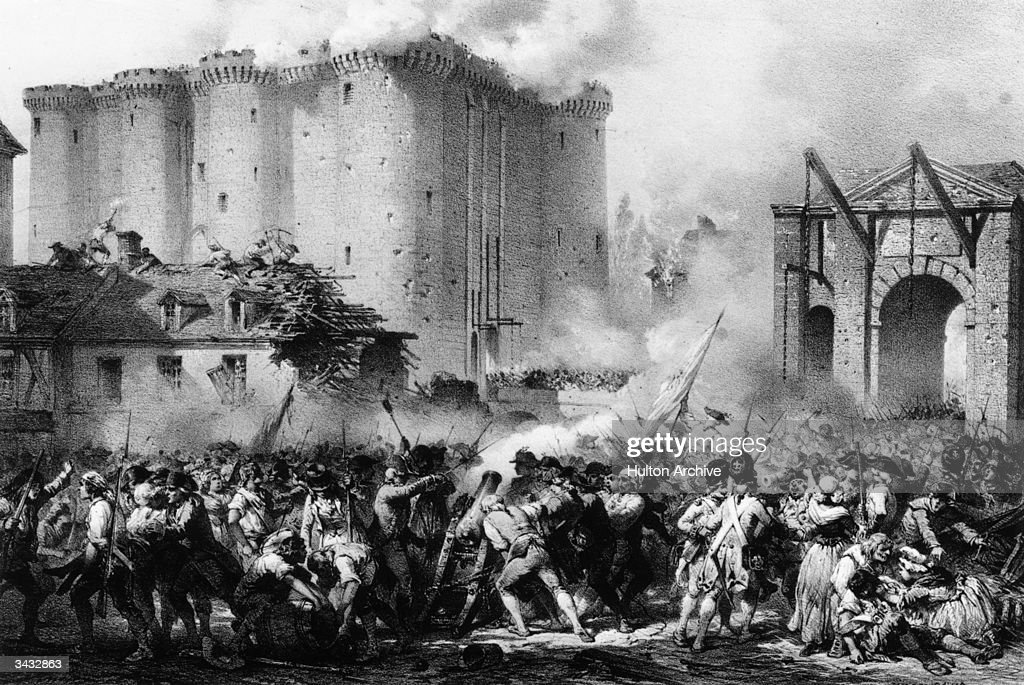 French troops storming the Bastille during the French Revolution The prison represented the hated Bourbon monarchy and Bastille day is now celebrated...