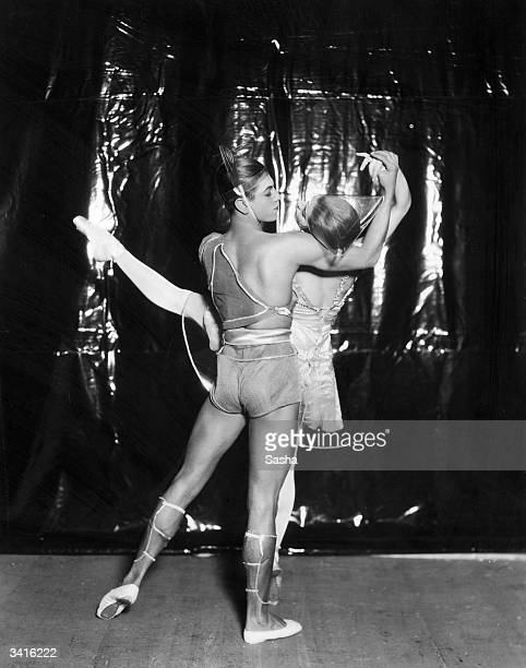 Alice Nikitina and Serge Lifar performing the Russian ballet 'La Chatte' at His Majesty's Theatre London Music by Henri Saguet choreography by George...