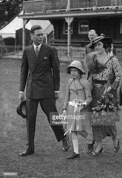 14th June 1935 Windsor Berkshire The Duke and Duchess of York later King George VI and the Queen Mother with Princess Elizabeth later Queen Elizabeth...