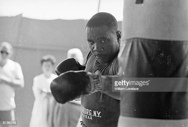 World heavyweight boxing champion Sonny Liston who would be defeated by Muhammad Ali a couple of years later