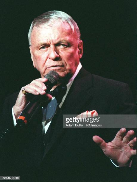 On this day in 1998 American singer Frank Sinatra died aged 82 American singer Frank Sinatra performing on stage at the Royal Albert Hall in London...