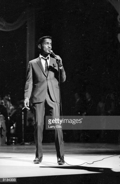 American music icon Sammy Davis Jnr on stage at the Royal Variety Show