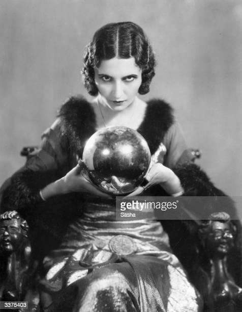 Actress Norah Robinson currently appearing as Morgan le Fay in a production of 'A Yankee at the Court of King Arthur' at Daly's Theatre looking into...