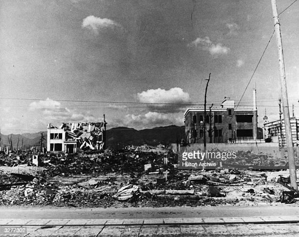 Atomic bomb damage in Hiroshima