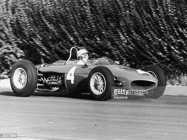 Mexican racing driver Ricardo Rodriguez in a Ferrari 156 during practice for the Italian Grand Prix at Monza