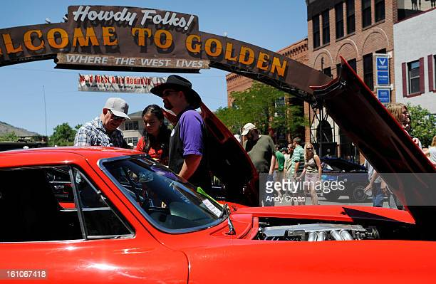 GOLDEN COLORADOJUNE 14TH2008Car fans enjoy a classic Corvette car on display at the Wild West Auto Roundup show in Golden Saturday afternoon The show...