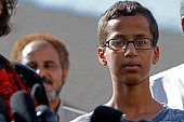 14yearold Ahmed Ahmed Mohamed speaks during a news conference on September 16 2015 in Irving Texas Mohammed was detained after a high school teacher...