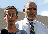 14yearold Ahmed Ahmed Mohamed stands with his father Mohamed Elhassan Mohamed during a news conference on September 16 2015 in Irving Texas Mohammed...