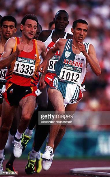LEICHTATHLETIK 1500m Finale Maenner ATLANTA 1996 3896 Fermin CACHO/ESP SILBER MEDAILLE Nourredine MORCELI/ALG GOLD MEDAILLE