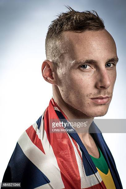 1500m runner Ryan Gregson of Australia poses for a portrait during a photo session at the Athletics Australia training camp on August 17 2015 in...