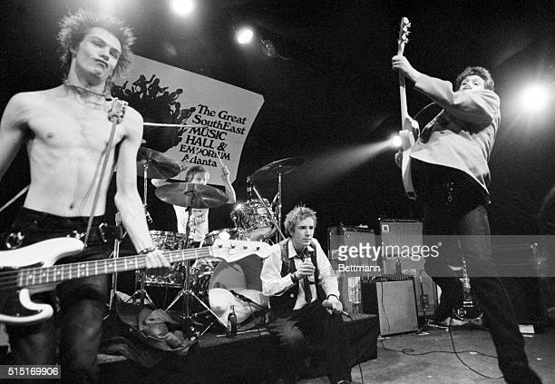 1/5/78Atlanta Georgia Britain's punkrock band the 'Sex Pistols' make their debut in America Jan 5 in a center music hall Sid Vicious on base drummer...
