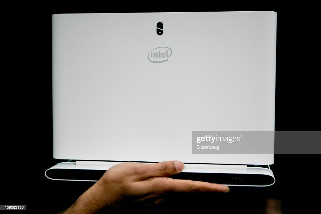 A 15-inch 4th generation Intel Corp. Core Ultrabook reference design laptop computer is displayed during a news conference at the 2013 Consumer Electronics Show in Las Vegas, Nevada, U.S., on Monday, Jan. 7, 2012. The 2013 CES trade show, which runs until Jan. 11, is the world's largest annual innovation event that offers an array of entrepreneur focused exhibits, events and conference sessions for technology entrepreneurs. Photographer: Andrew Harrer/Bloomberg via Getty Images