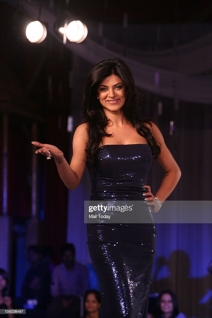 Sushmita Sen walks the ramp at a fashion show organised by Khushii in New Delhi on September 15 2010