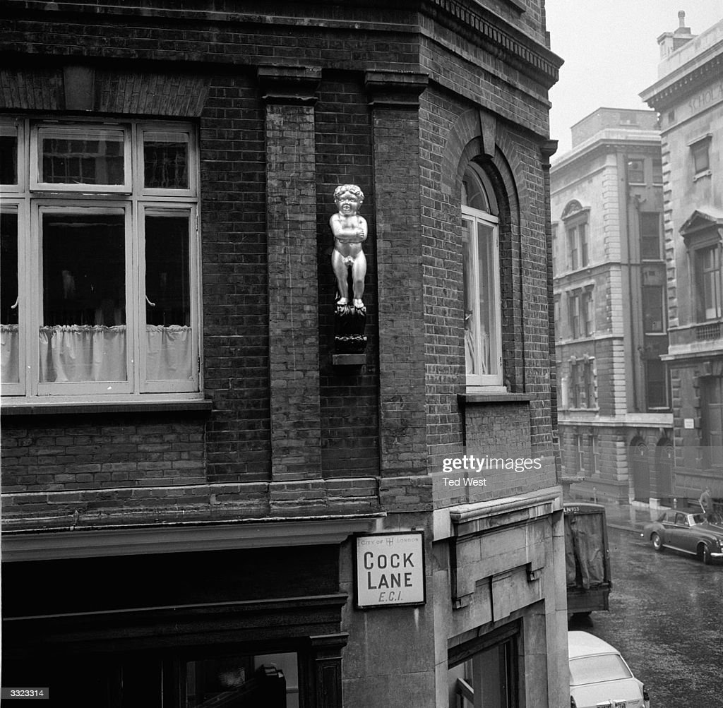 The Golden Boy of Cock Lane, East London, who was erected on the corner of Cock Lane and Gullpin Street in the 1660's to mark the spot where the Great Fire of London ended. As well as recently being re-gilded the fig leaf added in the 1920s for 'decency' has been removed to restore him to his original state of nudity.