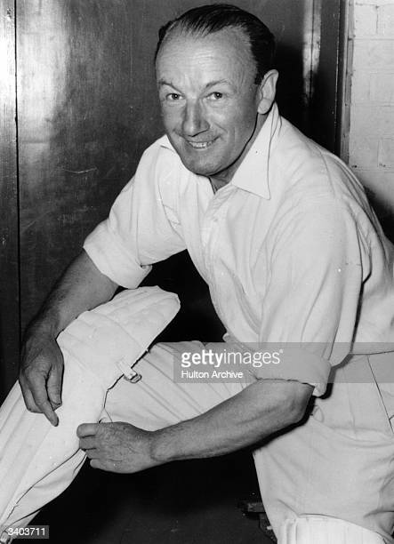 Sir Donald Bradman statistically the greatest batsman ever putting on his kit for a charity game in Adelaide Sir Donald Bradman was the first...