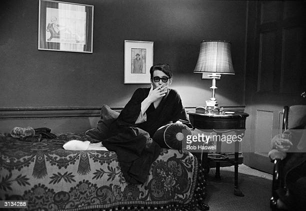 Irish leading man Peter O'Toole star of Richard Brooks' adventure 'Lord Jim' relaxing at home