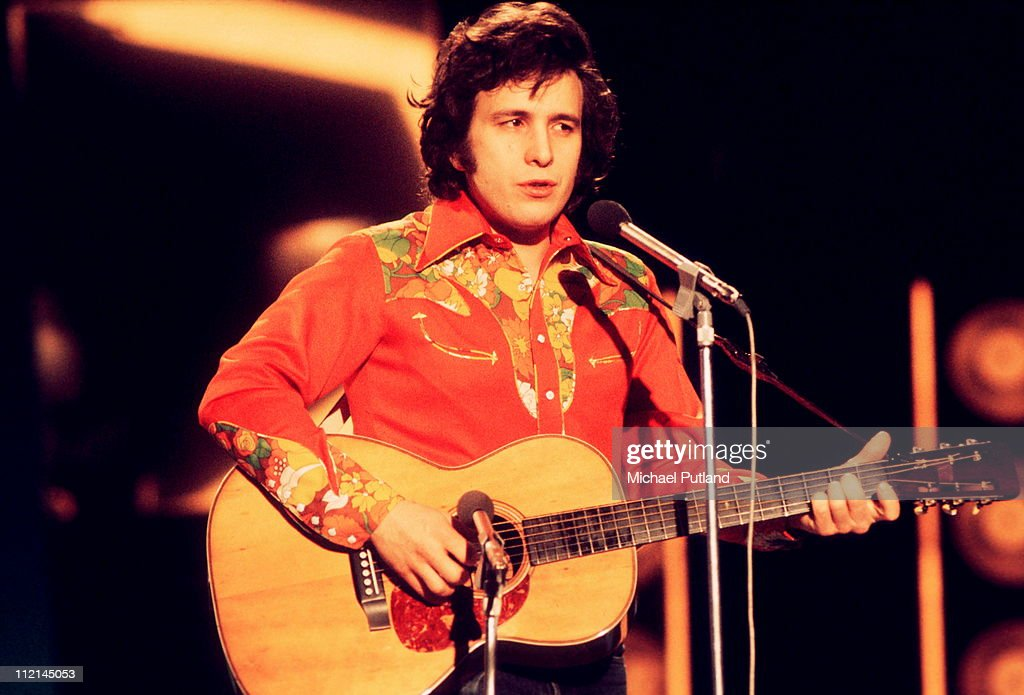 American musician <a gi-track='captionPersonalityLinkClicked' href=/galleries/search?phrase=Don+McLean&family=editorial&specificpeople=705374 ng-click='$event.stopPropagation()'>Don McLean</a> performs live on stage at the Grand Gala in Amsterdam, Netherlands on 15th February 1974.