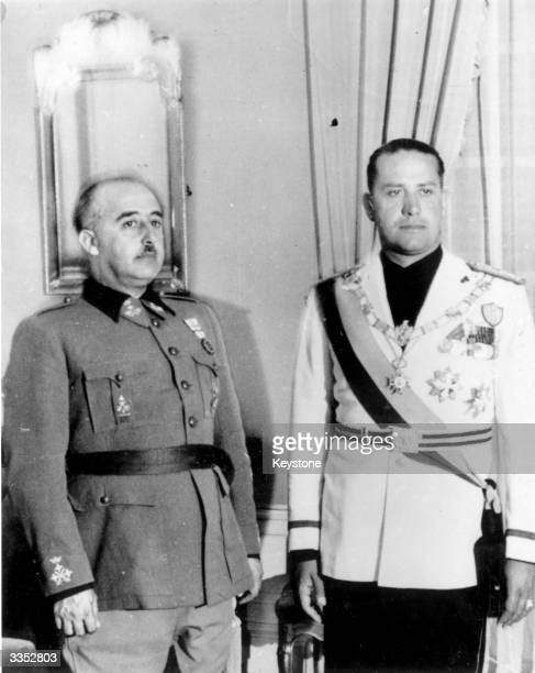 Spanish dictator General Francisco Franco with the Italian foreign minister Count Galeazzo Ciano in San Sebastian