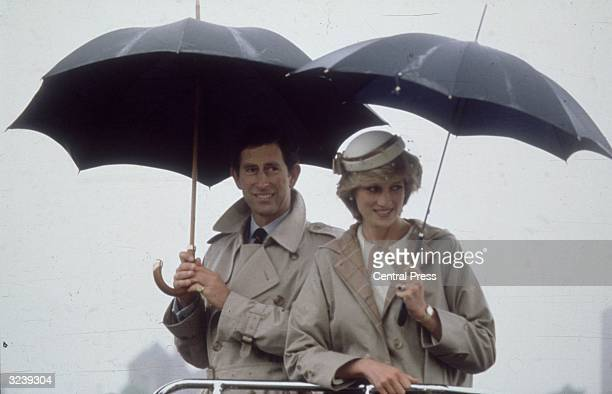 Charles Prince of Wales and Diana Princess of Wales on holiday in Nova Scotia