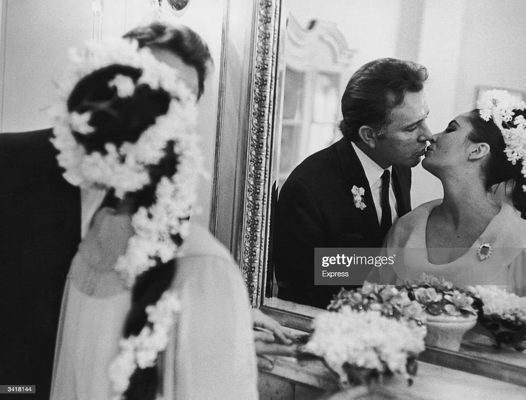Actress Elizabeth Taylor marries her fifth husband Richard Burton (1925-1984) in Montreal.