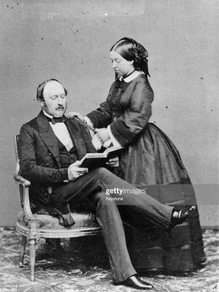 Queen Victoria and her beloved <a gi-track='captionPersonalityLinkClicked' href=/galleries/search?phrase=Prince+Albert+-+Husband+of+Queen+Victoria&family=editorial&specificpeople=92392 ng-click='$event.stopPropagation()'>Prince Albert</a>, the Prince Consort, at Buckingham Palace.