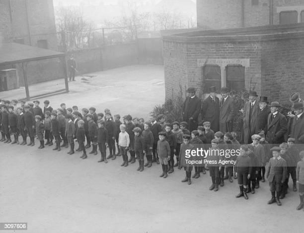 Schoolboys from St John's School in Ealing London