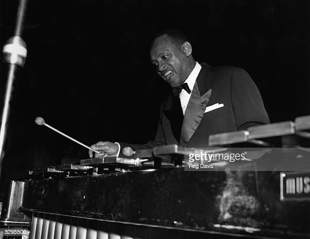 American band leader composer and instrumentalist Lionel Hampton playing the vibraphone Hampton who was driving the car in which Bessie Smith was...
