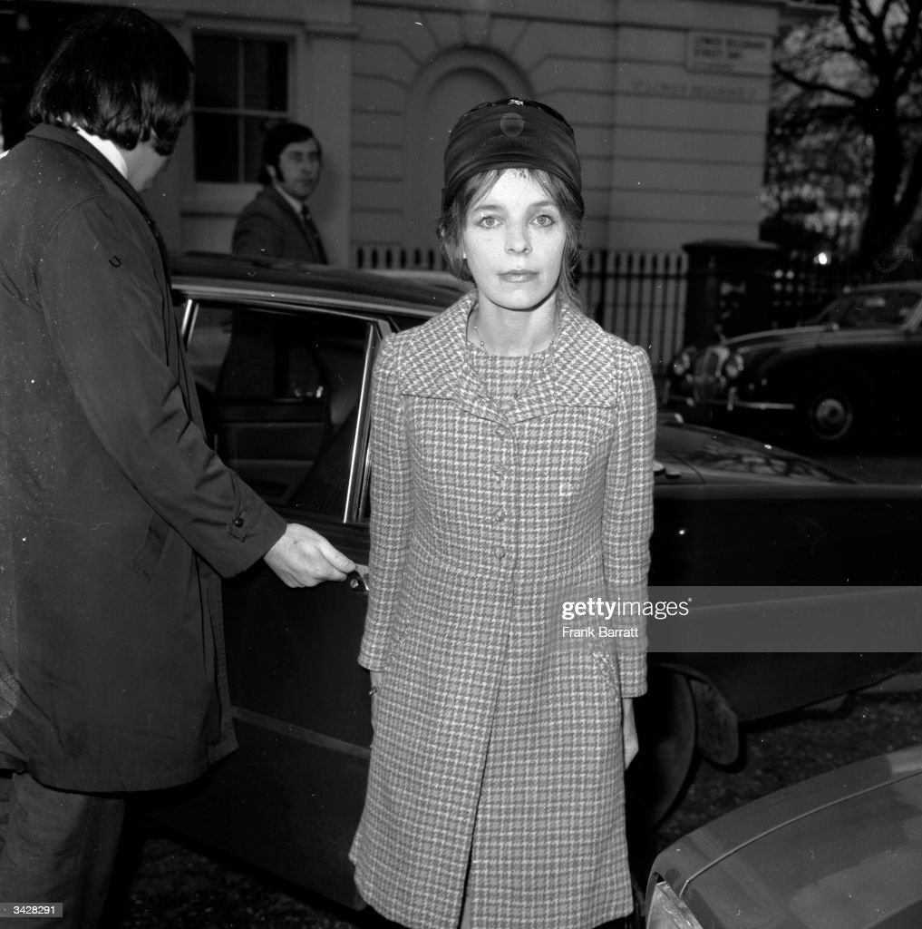 Veronica Lucan, the Dowager Countess of Lucan, wife of the missing Earl, Lord Lucan who disappeared following the murder of their nanny. She is returning to her home in Lower Belgrave Street, London after a High Court appearance to discuss the future of her 3 children.