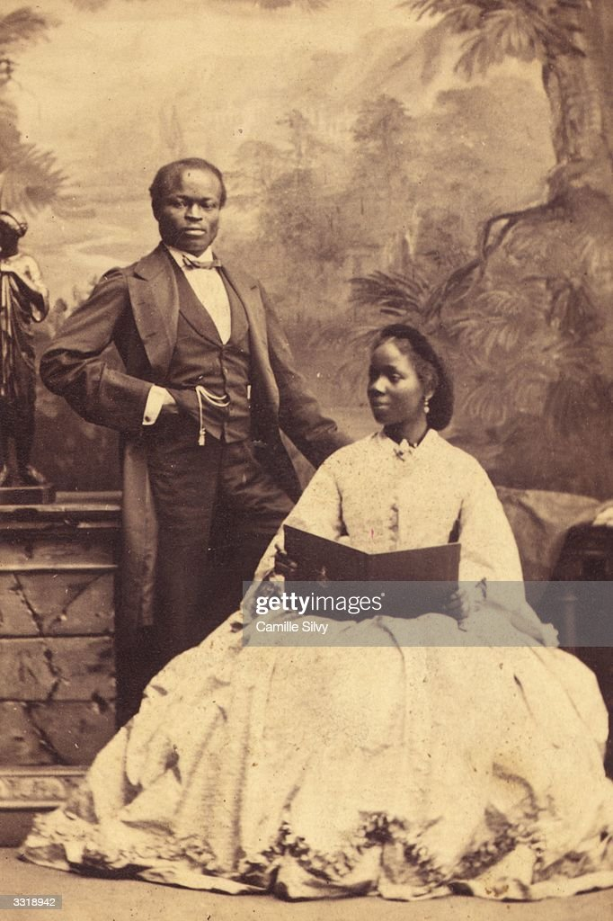 Sara Forbes Bonetta, god-daughter of Queen Victoria, with her husband James Davies.