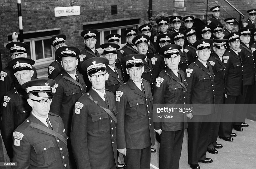 Image result for The UK's first ever traffic wardens getting ready to patrol the streets of London. (Getty)
