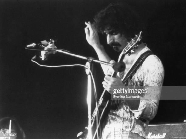 Singersongwriter Frank Zappa in concert