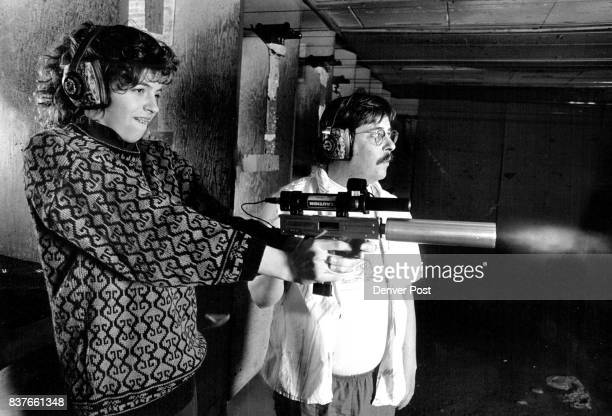3/18/1987 3191987 15yearold Andrea Runge fired 22 magnum machine pistol invented by John Royster right Unlike other machine guns this weapon is...