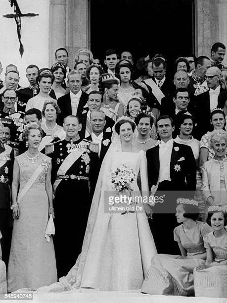 *Prinzessin Königin von Dänemark seit 1972Hochzeit mit Prinz Henrik die Hochzeitsgesellschaft 1967