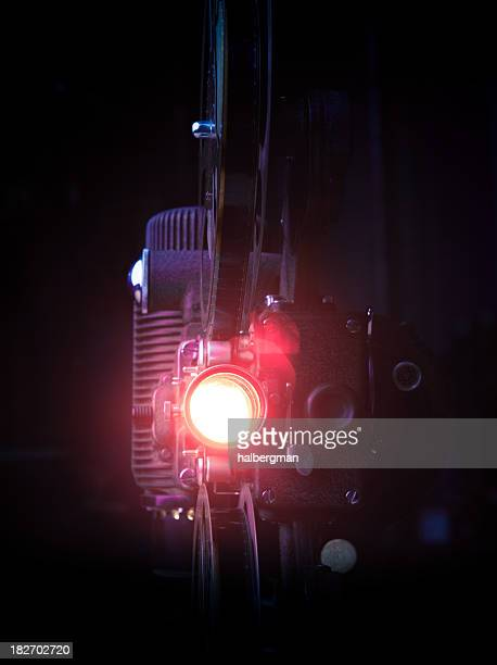 16mm Movie Projector with Lens Flare