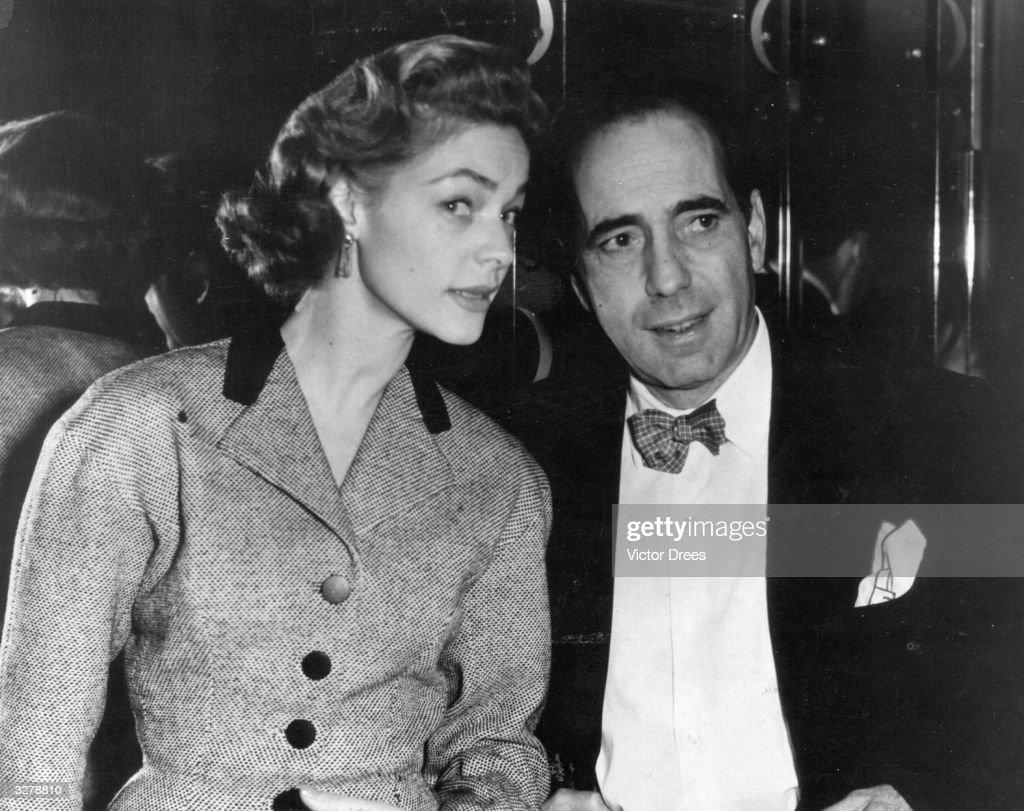 Humphrey De Forest Bogart American film actor with his wife Lauren Bacall originally Betty Joan Perske an American actress
