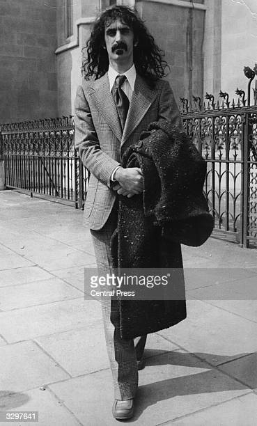 Rock musician avant garde composer and writer Frank Zappa in London after appearing at the High Court His company Bizarre Productions Incorporated...