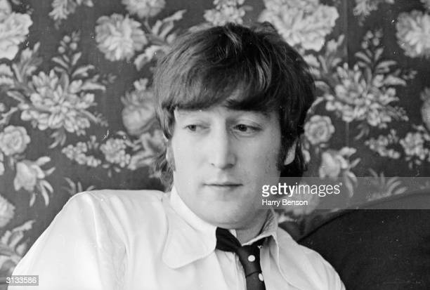 John Lennon of the Beatles after making a formal apology for his controversial statement that the group were 'more popular than Jesus'