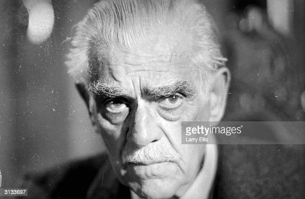 Veteran horror actor Boris Karloff famed for his role as the definitive monster in the 1931 version of 'Frankenstein'