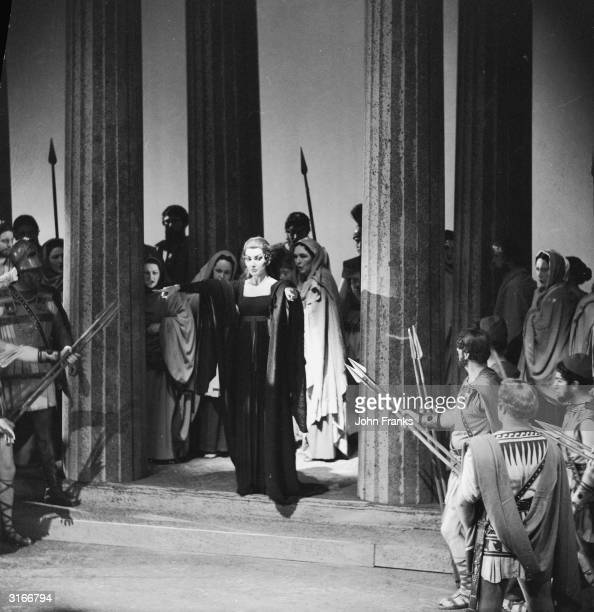 American prima donna Maria Callas plays the title role in Cherubini's opera 'Medea' at the Royal Opera House in Covent Garden London
