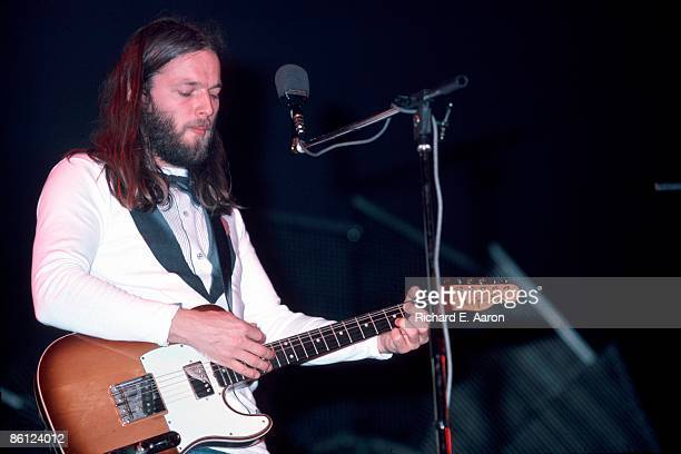 Photo of PINK FLOYD and David GILMOUR David Gilmour performing live onstage playing Fender Telecaster Custom guitar on 'Wish You Were Here' tour at...