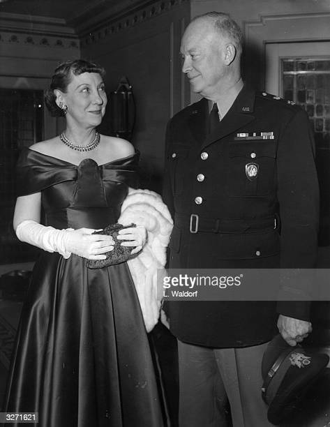 American General and statesman Dwight D Eisenhower known as Ike the 34th President of the United States of America with his wife Mamie