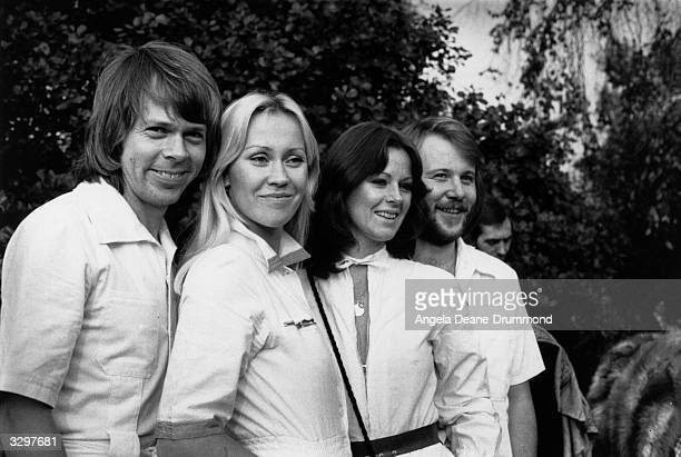 Swedish pop group Abba in London