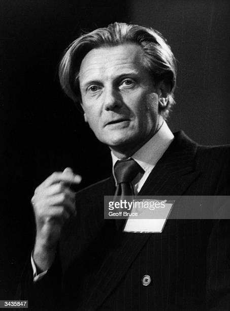 British Conservative politician and Secretary of State for the Environment Michael Heseltine at the party conference in Blackpool