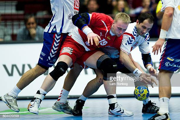 World Championship Malmø Denmark vs Serbia René Toft Hansen Danmark / Denmark Alem Toskic Serbien / Serbia ©Lars Rønbøg / Frontzonesport