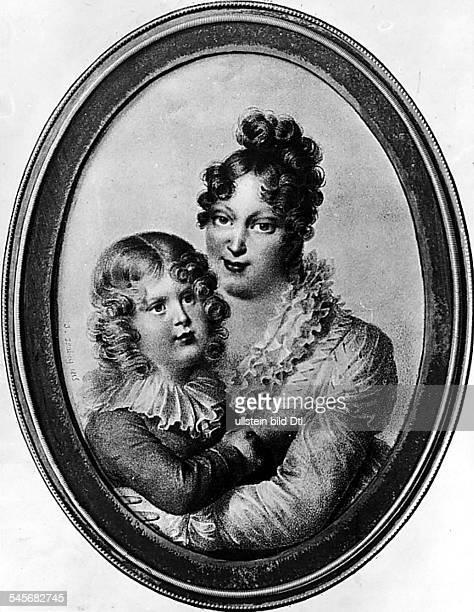 12121791 17121847Habsburgerin Kaiserin von Frankreich 1810 18142 Frau von Napoleon Imit ihrem Sohn Napoleon II König vonRomGemälde von Isabey 1815