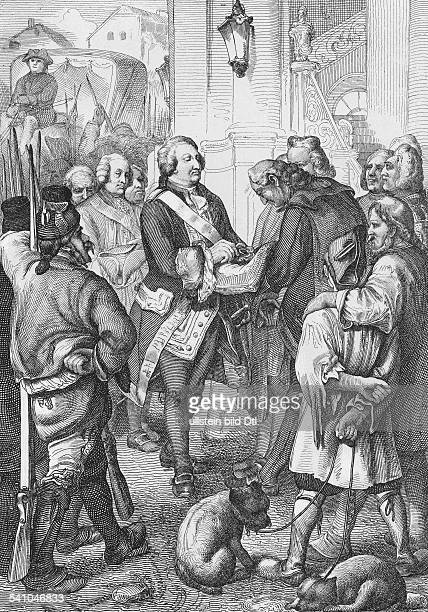 1754 1793König 1774 1792Zug der königlichen Familie nach ParisDer König empfängt an der Treppe desStadthauses von dem Bürgermeister diedreifarbige...