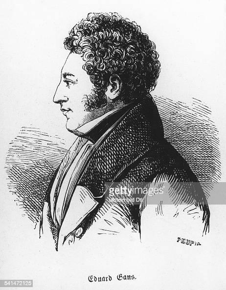 *1798_od17991839 Jurist Rechtsphilosoph Mitbegründer der vergleichenden Rechtswissenschaft Porträt Holzstich um 1830