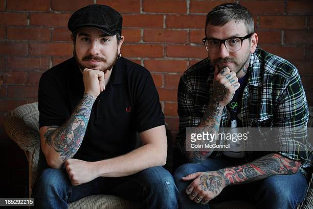 JUNE 17th 2009pics of a couple of members of the band alexisonfire to go with profile on them and their new album old crows/young cardinalsthey are...