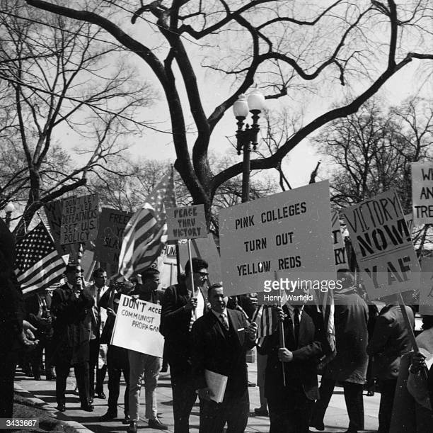 A march in support of the Vietnam War and in harsh opposition to the conscientious objectors Washington DC
