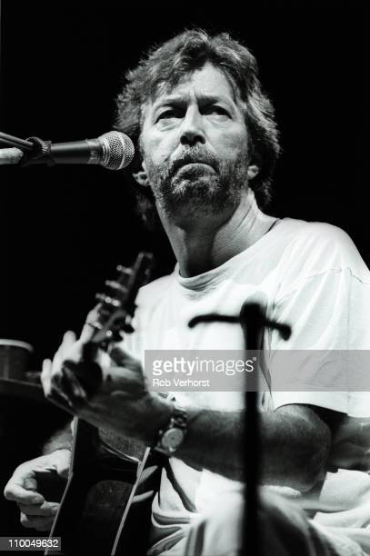 Eric Clapton performs live on stage at Ahoy in Rotterdam Netherlands on 17th April 1995